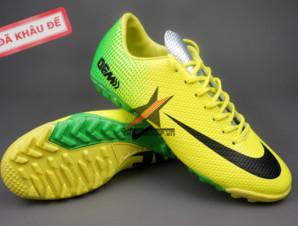 Giày đinh dăm Nike Mercurial Vapor IX TF Xanh Vàng_big_0