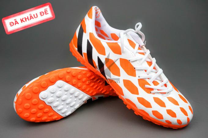 giay predator giay dinh dam tf giay bong da adidas  giay adidas predator 2014 cam trang 1 Giày đá bóng Adidas Predator TF Cam Trắng