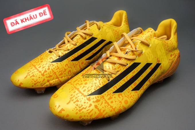 giay san tu nhien dinh fg giay adizero  giay adizero f50 fg mau dong 6 Giày bóng đá F50 Messi Vàng FG (Đã khâu đế)
