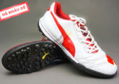 Giày bóng đá Puma 2 màu đỏ trắng TF new gia re. Random