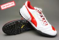 Giày bóng đá Puma 2 màu đỏ trắng TF new tai ha noi. Random