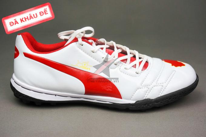 giay puma giay dinh dam tf giay da bong  giay da bong puma 2 mau do trang new 3 Giày bóng đá Puma 2 màu đỏ trắng TF new