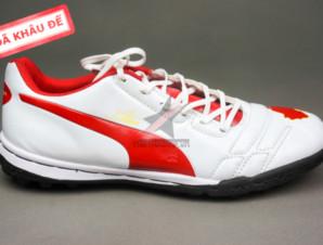 Giày bóng đá Puma 2 màu đỏ trắng TF new_big_1
