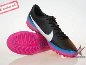 Giày đá banh Nike Mercurial Victory III CR TF Đen Tím_big_0