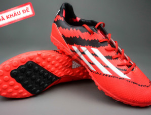 Giày đá banh F10 Adizero TF Đỏ Đen_big_0
