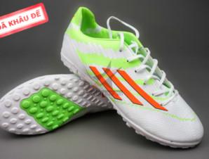 Giày đá bóng F10 Adizero TF Trắng Xanh_big_0