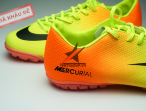 Giay da banh Nike Mercurial TF Vàng Cam_big_2