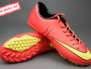 Giày đá bóng Nike Mercurial V TF Đỏ Vàng_big_0