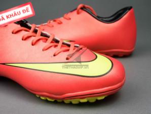 Giày đá bóng Nike Mercurial V TF Đỏ Vàng_big_1