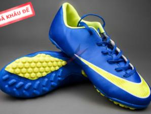 Giày bóng đá Nike Mercurial V TF Xanh Vàng_big_0