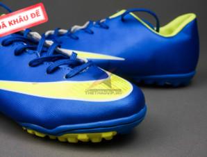 Giày bóng đá Nike Mercurial V TF Xanh Vàng_big_1