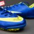 Giày bóng đá Nike Mercurial V TF Xanh Vàng_small_1